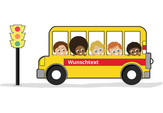 Fenstersticker Wunschtext Schulbus - Bild 2
