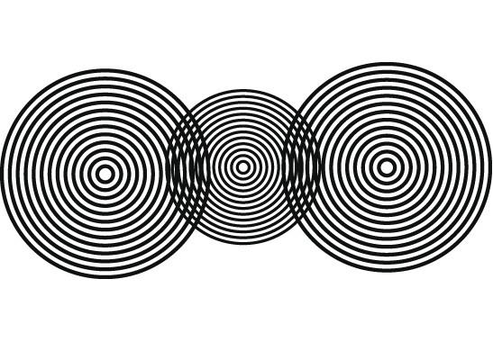 Glasdekor Optische Kreise - Bild 6