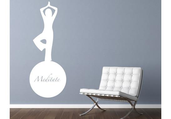 Wandtattoo Meditate