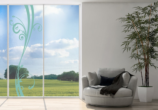 Glasdekor Floraler Schwung - Bild 5