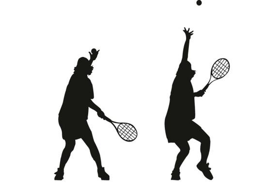 Glasdekor Tennis Aufschlag - Bild 7