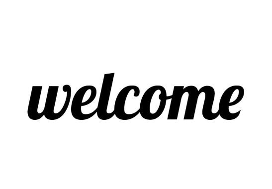 schwarz/weiss Ansicht - Wandtattoo Welcome