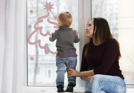 Glasdekor Weihnachtswinterbaum - Bild 4