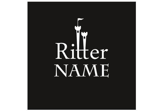 Gesamtansicht des Profidrucks - Sichtschutz Wunschtext Ritter II