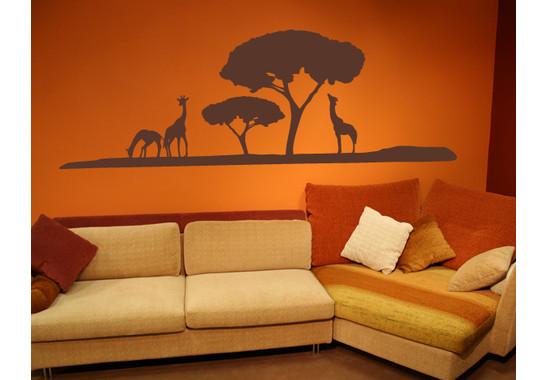 Wandtattoo Giraffen