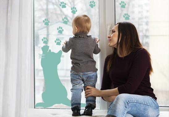 Glasdekor Freches Kätzchen - Bild 5