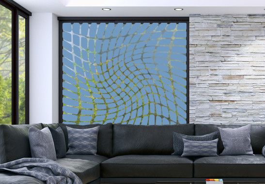 Glasdekor Optische Täuschung