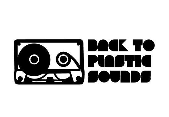 schwarz/weiss Ansicht - Wandtattoo Plastic Sounds