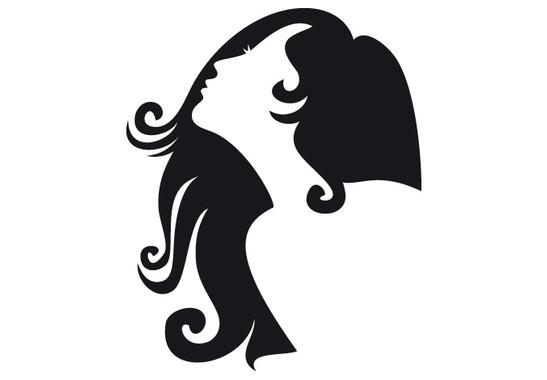schwarz/weiss Ansicht - Wandtattoo Woman