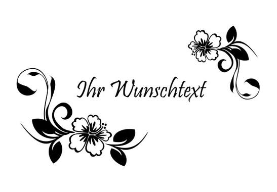 Glasdekor Wunschtext Hibiskustraum - Bild 6