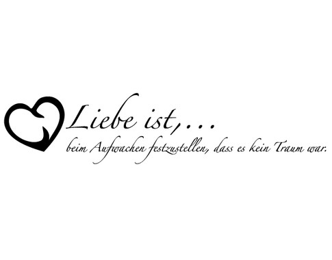 schwarz/weiss Ansicht - Wandtattoo Liebe ist...