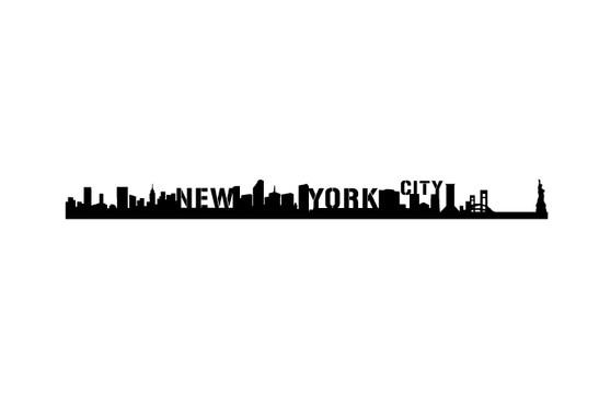 schwarz/weiss Ansicht - Wandtattoo NewYork Skyline