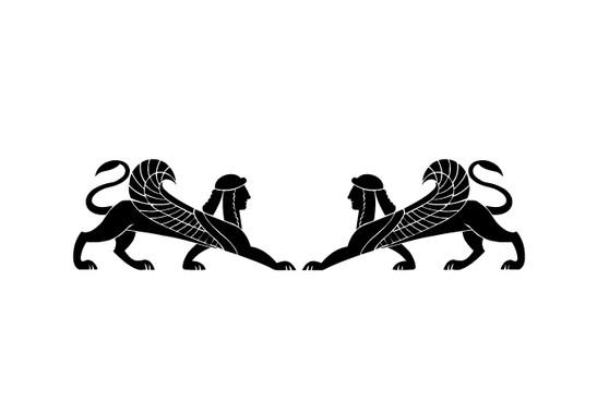 schwarz/weiss Ansicht - Wandtattoo Greek Myths