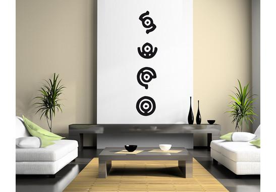 Wandtattoo Höhlenmalerei Kreiszeichen