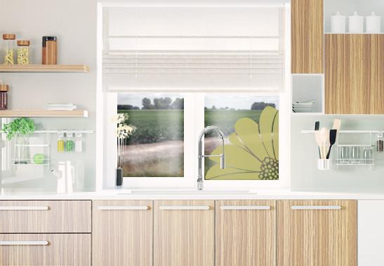 Glasdekor Gerbera Ecke - Bild 3