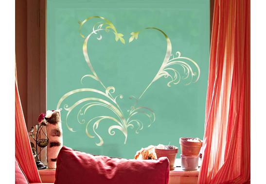Folienfarbe in Wohnansicht: Refreshing Mint - Sichtschutz Romeo & Julia II