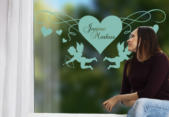Glasdekor Cupido's Herz - Bild 5