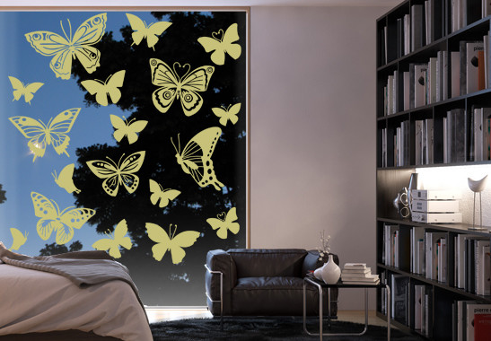 Glasdekor Schmetterlingsfamilie - Bild 3
