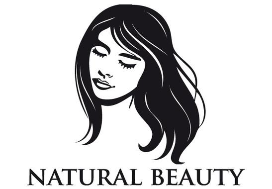 schwarz/weiss Ansicht - Wandtattoo Natural Bbeauty