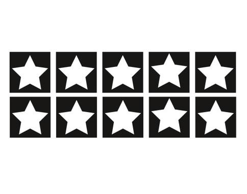 Fliesenaufkleber Zehn Sterne Set - Bild 2