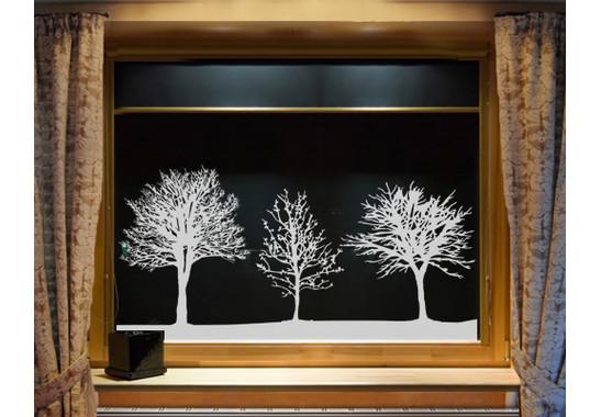 Glasdekor Baumgruppe