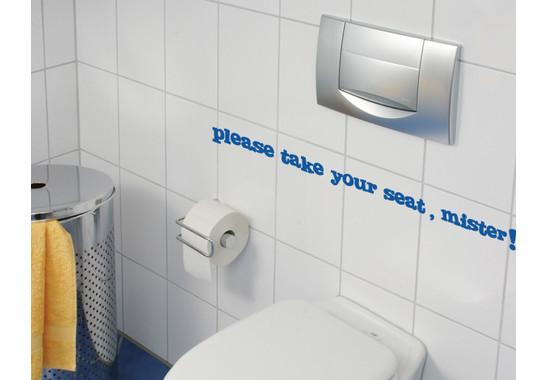 Wandtattoo WC Tipp