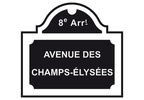 schwarz/weiss Ansicht - Wandtattoo Champs-Èlysées