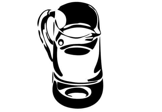 schwarz/weiss Ansicht - Wandtattoo Wasserkrug