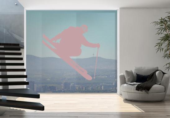 Glasdekor Wunschtext Skispringer - Bild 4