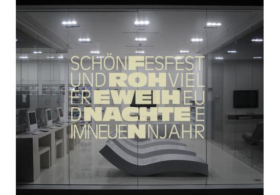 So könnte Ihr Kunstwerk im Raum wirken - Glasdekor Schönes Fest