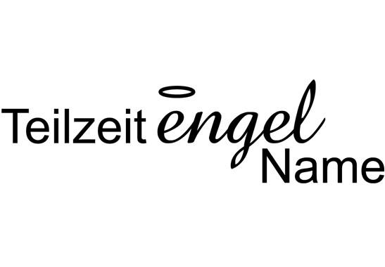 Glasdekor Wunschtext Teilzeit Engel - Bild 6