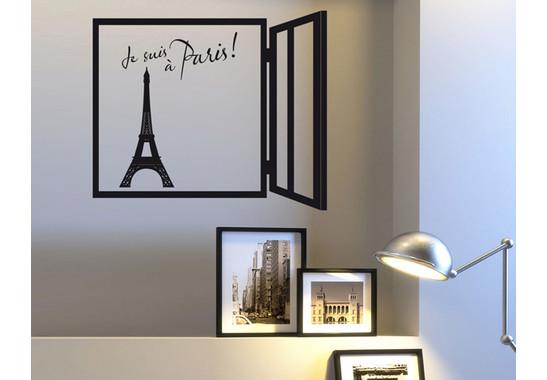 Wandtattoo Je suis à Paris!