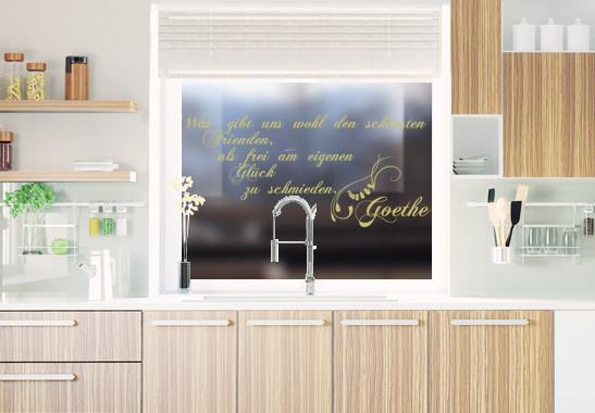 Glasdekor Goethe Zitat - Bild 3