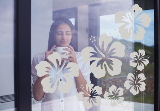 Glasdekor Hibiskus Blüten - Bild 2