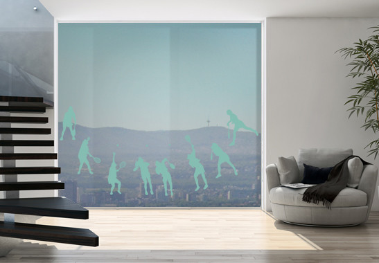 Glasdekor Tennis Aufschlag - Bild 5
