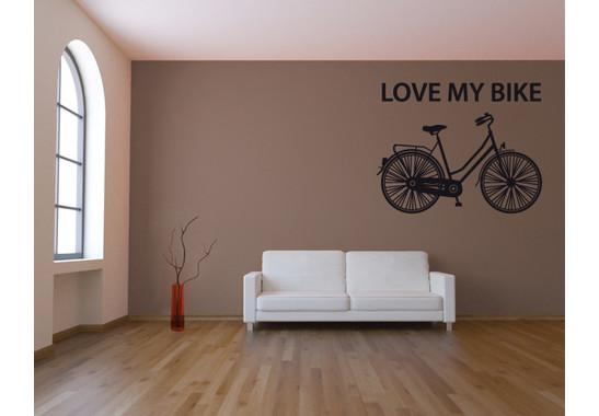 Wandtattoo I love my bike
