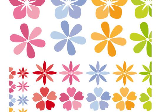 Produktdetail Ansicht der verschiedenen Grössen - Fenstersticker Blütenmeer