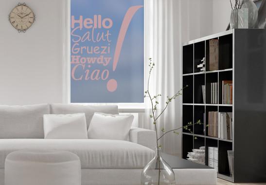 Glasdekor Hello & Ciao - Bild 4