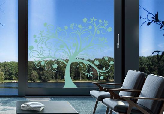 Glasdekor Herbstbaum - Bild 5
