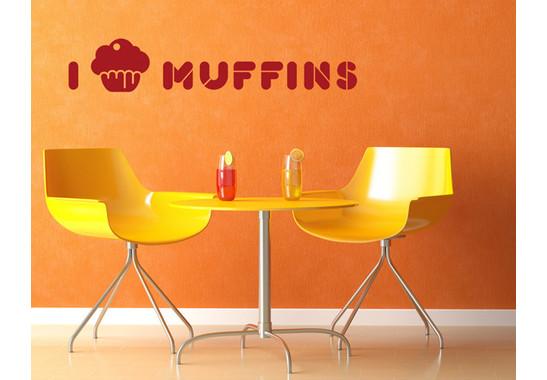 Wandtattoo I love Muffins