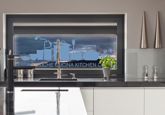 Glasdekor Küche und Cucina