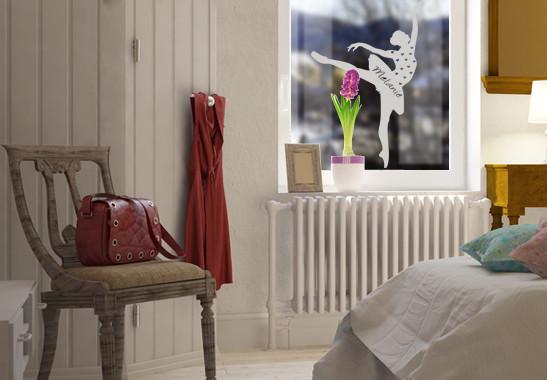 Glasdekor Wunschtext Ballett Tänzerin - Bild 2
