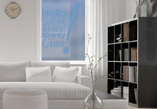 Glasdekor Hello & Ciao