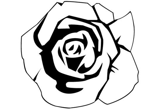 schwarz/weiss Ansicht - Wandtattoo Rose