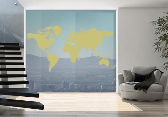 Glasdekor Weltkarte - Bild 3