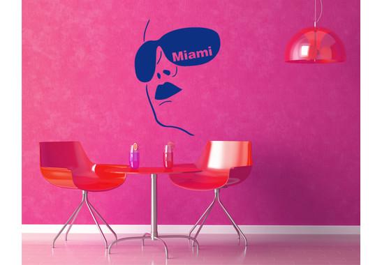 Wandtattoo Miami Girl