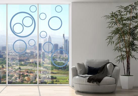Glasdekor Circles