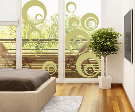 Glasdekor Retro Kreise - Bild 3