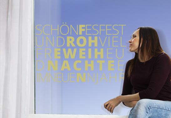 Glasdekor Schönes Fest - Bild 3