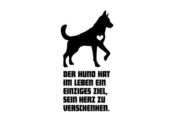 schwarz/weiss Ansicht - Wandtattoo Der Hund hat...